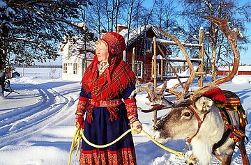 Traditionelle Sami Frau